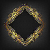 Openwork gold frame Royalty Free Stock Image