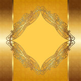 Openwork gold frame Stock Photos