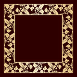 Openwork golden frame with leaves. Royalty Free Stock Images