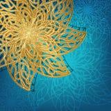 Openwork golden snowflake Stock Image
