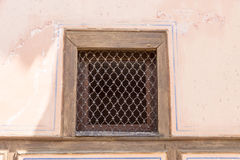Openwork grille at a window of an old house in Lovech, Bulgaria Royalty Free Stock Photos
