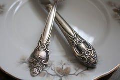 Openwork handle cutlery Royalty Free Stock Photo