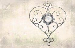Openwork harttegenhanger Malplaatje voor groetkaarten, enveloppen, huwelijksuitnodigingen, binnenlandse decoratieve elementen De  Stock Afbeelding