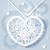 Openwork heart applique paper Royalty Free Stock Photos