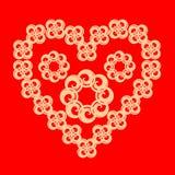 Openwork heart of flowers. Vector Royalty Free Stock Image