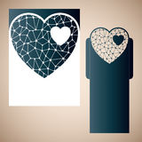 Openwork heart with gossamer. Stock Images