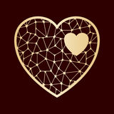 Openwork heart. Laser cutting template. Royalty Free Stock Images