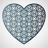 Openwork hjärta med den blom- modellen Bitande mall för laser vektor illustrationer