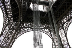 The openwork interweaving Eiffel Tower. Royalty Free Stock Photos