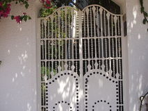 Openwork iron gate Royalty Free Stock Photo