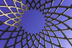 Openwork jajko Drewniana struktura w miasto parku Zdjęcie Stock