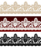 Openwork lace seamless border. Royalty Free Stock Images