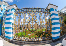 Openwork lattice of Catherine Palace - the summer residence of t Royalty Free Stock Photography