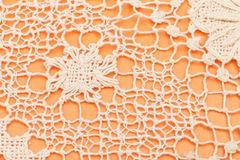 Openwork by Maltese bobbin lace. Vintage knitting craftsmanship - openwork by Maltese bobbin lace Stock Images