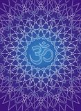 Openwork mandala with the sign of Aum Om. Stock Photography