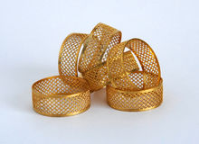 Openwork napkin holders Royalty Free Stock Image