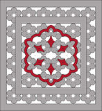 Openwork ornaments with grey, red  lace Royalty Free Stock Photography