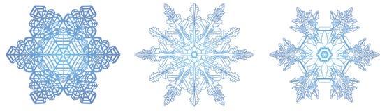 Openwork płatki śniegu Zdjęcia Royalty Free