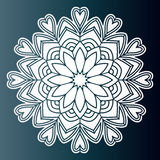 Openwork pattern mandala. Laser cutting template. Royalty Free Stock Photos