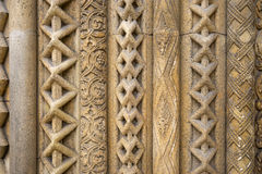 Openwork pattern of sandstone building. Royalty Free Stock Photo
