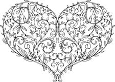 Openwork patterned heart Royalty Free Stock Images