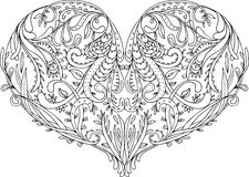 Openwork patterned heart Royalty Free Stock Image