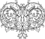 Openwork patterned heart Stock Photo