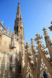 Openwork pinnacles at Milan Cathedral, Italy Royalty Free Stock Photo