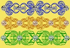 Openwork prydnader vektor illustrationer
