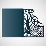 Openwork rama z drzewem i sercami ilustracji