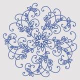 Openwork rond hand-drawn patroon Stock Foto