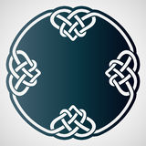 Openwork round element with celtic motif. Royalty Free Stock Photos
