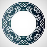 Openwork round frame with celtic motif. Laser cutting template. Stock Photo