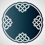 Openwork rund beståndsdel med celtic motiv Royaltyfria Foton