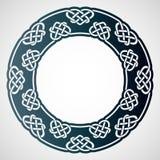 Openwork rund ram med celtic motiv Bitande mall för laser Arkivfoto