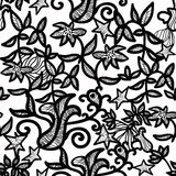 Openwork seamless pattern on a white background. vector illustra Royalty Free Stock Image