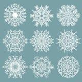 Openwork sneeuwvlokken Stock Foto