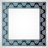 Openwork square frame with celtic motif. Laser cutting template. Royalty Free Stock Photography