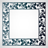 Openwork square frame with leaves. Stock Photography