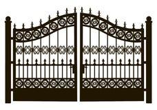 Openwork Stalowa brama Zdjęcia Stock