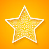 Openwork Star on Colorful Background Stock Photography