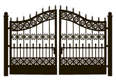 Openwork Steel Gate Stock Photos