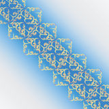 Openwork tape. Pattern on a light blue background. Royalty Free Stock Photography