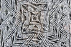 Openwork van de donsachtige sjaal van Orenburg; Stock Foto