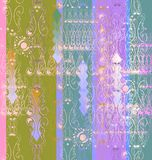 Openwork vignettes a seamless pattern Stock Image