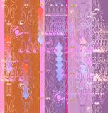 Openwork vignettes a seamless pattern Royalty Free Stock Photography