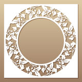 Openwork white frame with leaves. Royalty Free Stock Photos