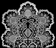 Openwork white pattern Stock Images