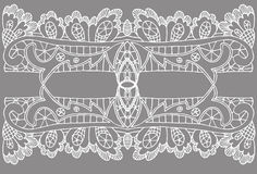 Openwork white pattern Stock Photography