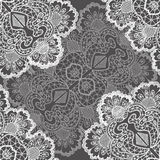 Openwork white pattern seamless Royalty Free Stock Photos